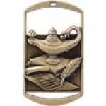 Dog Tag Medals -Lamp of Knowledge DT Series Medal Awards