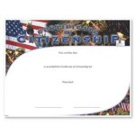 Citizenship Certificate Award Fill in the Blank Certificates