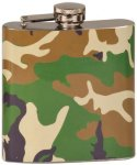 6 Oz Camouflage Stainless Steel Flask Gift Awards