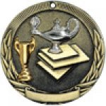 Tri-Colored Series Medals -Lamp of Knowledge  Tri-Colored Medal Awards